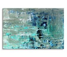 120x80cm Leinwandbild auf Keilrahmen Abstrakt Blautöne Malerei