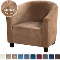Stretch Velvet One-seater Sofa Cover Armchair Club Chair Elastic Chair Slipcover