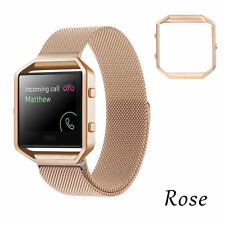 Milanese Magnetic Loop Wrist Band Strap Frame for Fitbit Blaze Stainless Steel