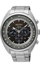 Seiko Analog Business Mens Solar Chronograph Silver Ssc621p1