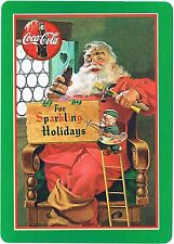 Coca-Cola Playing Cards For Sparkling Holidays 334 Standard Deck Coke Santa 1998