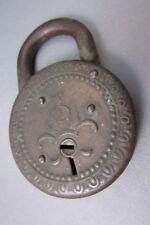 Antique PADLOCK Brass Estate no key