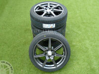 GENUINE ASTON MARTIN V8 VANTAGE 19INCH SPEEDLINE ALLOY WHEELS+BRIDGESTONE TYRES