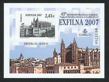 ESPAÑA 2007 - PRUEBA DE LUJO OFICIAL Nº 94 - EXFILNA´2007 - ESPAGNE - SPANIEN