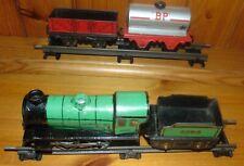 More details for hornby o gauge m0 locomotive & tender green 2595 wagon 163502 shell bp tanker