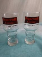 Drinking Glass Glasses from Peppermill Hotel Casino LasVegas NEVADA set of 2