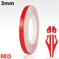 Red Self Adhesive Car Pin Stripe Coach Line Tape Styling Stripe 3mm x 10meter