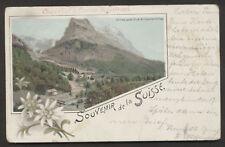 Schweiz Grindelwald   Litho   Reklame  Chocolat Maestrani  gest.1909