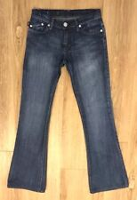 Rock & Republic Womens 25 Crystal Roth Addict Boot Cut Crystals Distressed 9051