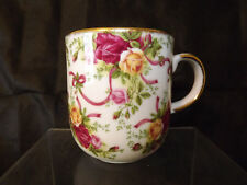 Royal Albert Old Country Roses Ruby Celebration Coffee Mug  Exc cond.2001