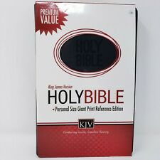 KJV Giant Print Reference Bible Personal Size Black Leather Nelson King James