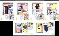 ITALIA REP. - 2000 - Design italiano (1) su sei cartoline maximum