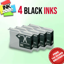 4 BLACK non-OEM Ink for Brother DCP-130C DCP-135C DCP-150C DCP-330C DCP-350C