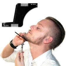 1xGentlemen Styles Beard Trim Template Men Modelling Shaping Hairbrush Comb
