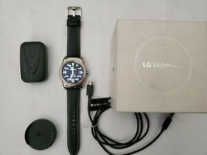 LG Watch Urbane Wearable Smart Watch - Silver w/ Original LG Black Leather Band