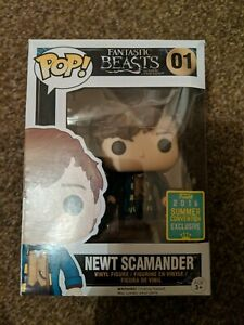 01 Newt Scamander Funko Pop Vinyl 2016 Summer Fantastic Beasts Harry Potter