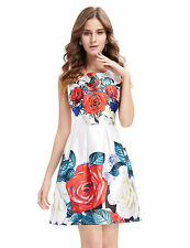 Dry-clean Only Casual Floral Regular Size Dresses for Women