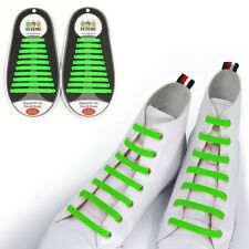 TOTOMO Green No-Tie Elastic Shoelaces Silicone Tieless Shoe Laces for Basketball