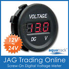 12V~24V DC LED DIGITAL VOLTMETER - Battery Test Volt/Voltage Meter - Flush Mount