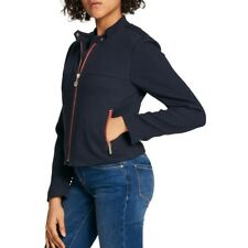 TOMMY HILFIGER NEW Womens Navy Quilted Zip-pocket Jacket...