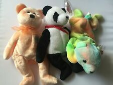 Ty Beanie Babies Lot Of 3 Sammy 1998 , Fortune 1997 And Dearest 2000 B