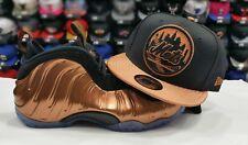 Matching New Era New York Mets snapback Hat Nike Foamposite Black COPPER Cap
