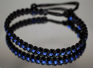 Police Thin Blue line bracelet -support police wristband -brand new