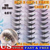 60 Bundle Individual Cluster Natural Long Eye Lashes Fake False Eyelashes Hot US