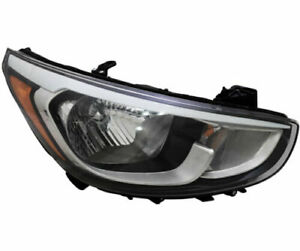 2015 2016 2017 Fits For HY Accent Headlight Right Passenger Side