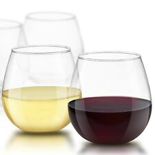 JoyJolt Spirits Stemless Wine Glasses, 15 Ounce, Set of 4 Tumbler Glasses