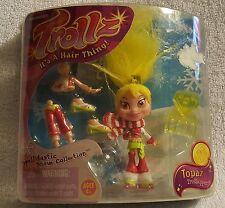 Rare - TrollzI It's A Hair Thing! Topaz Trollhopper Snow Collection Figure