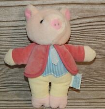"Eden Toys Beatrix Potter Pigling Bland Plush Stuffed Animal Pig 8"" Frederick War"