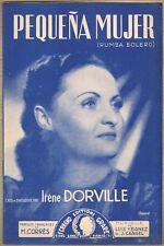 PEQUEÑA MUJER et RECUERDO Rumba-Bolero Paroles CORRÈS Musique YBAÑEZ-CANGEL 1950