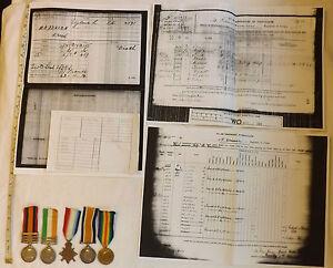 Military KSA QSA Queens South Africa Medal WW1 Trio Gloucester Regt Natal (2558)