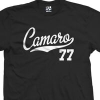 Camaro 77 Script Tail Shirt - 1977 Classic Muscle Race Car - All Size & Colors