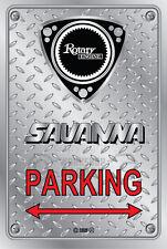 Metal Parking Sign  Rotary Mazda Style SAVANNA-NEW #04 - Checkerplate Look