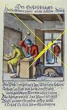 Colorierter Stich: Der Goldschlager um 1850 (3317)