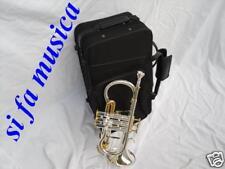 COMET Flicornino MIib  flicorno sopranino  cornettino argentato silver + case