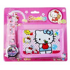Pack CARTERA MONEDERO + RELOJ Hello Kitty   -  A1212