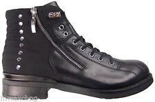 $850 Cesare Paciotti US 8 Ankle Boots Italian Designer Biker Combat Shoes