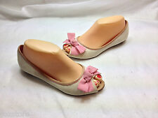 Lilly Pulitzer Peep Toe Flats Loafers Shoes Womens Size 7 B