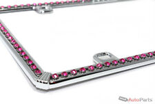 Chrome Pink Diamond Bling Custom License Plate Auto-Car-Truck Front-Rear Frame