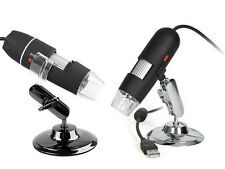 25X-200X USB Digital Microscope endoscop 2.0MP Magnifier with 8 LED Lights