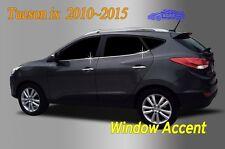 Window Accent Molding Chrome Garnish 4Pcs A919 for Hyundai Tucson ix 2010 ~ 2015