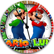 "Super Mario Luigi Wall Clock 10"" will be nice Gift and Room wall Decor W90"