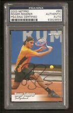Roger Federer Tennis 2003 Netpro Card Signed Auto PSA/DNA ENCAPSULATED