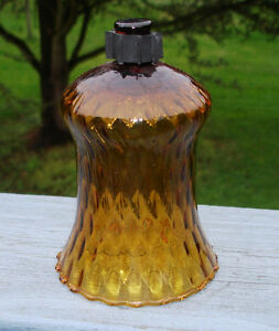 """1 PC HOMCO HONEYCOMB GOLD  GLASS VOTIVE CANDLEHOLDER W/ GROMMET 5"""" HEIGHT"""