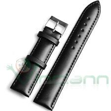 Cinturino eco pelle 22mm NERO bracciale fascia per Huawei Watch 2 Classic EC2N
