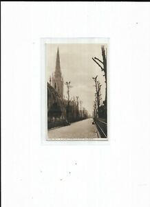 """Warwickshire Postcard CVY 44 """"St Michael's Avenue from Priory Row, Coventry"""""""