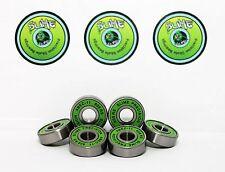 Skateboard Bearings Pack of 8 GREEN SLIME ABEC 11 608RS Bearings